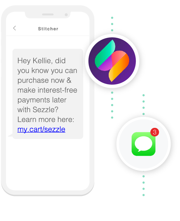 send sms text message reminders to high-Intent shoppers image