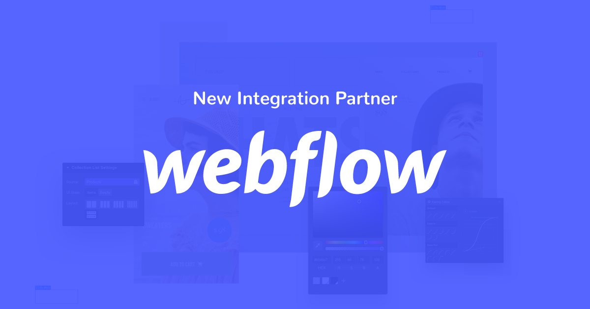 New Partnership Announcement: Webflow Ecommerce Platform