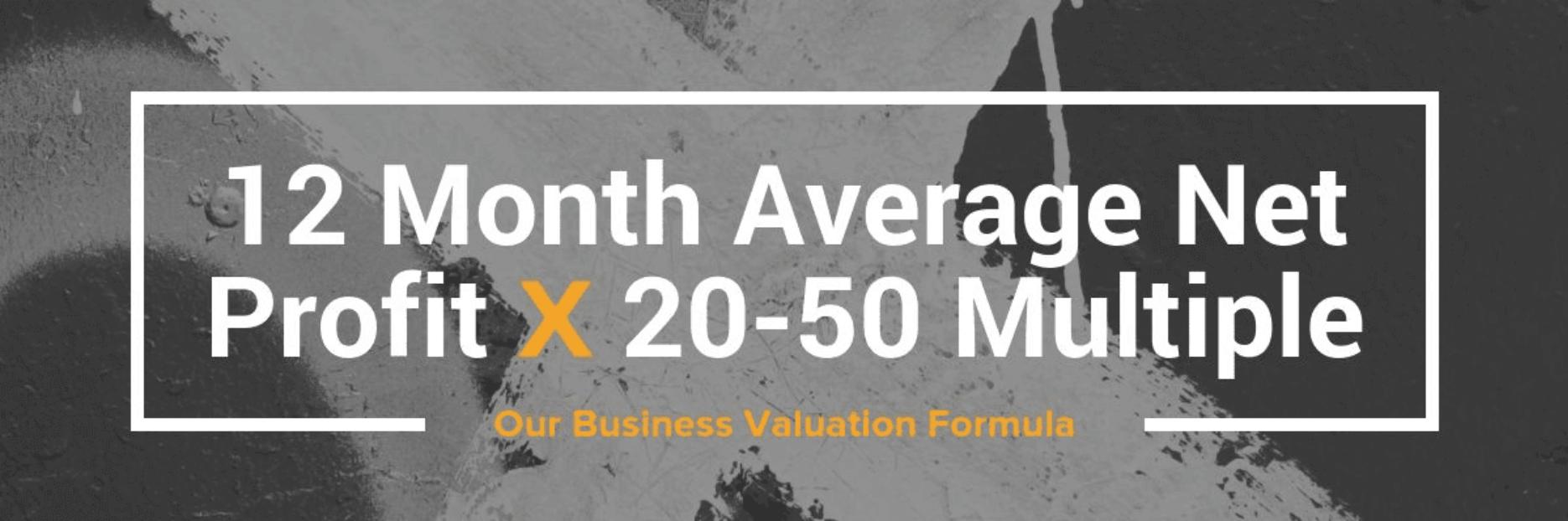 ecommerce business valuation formula