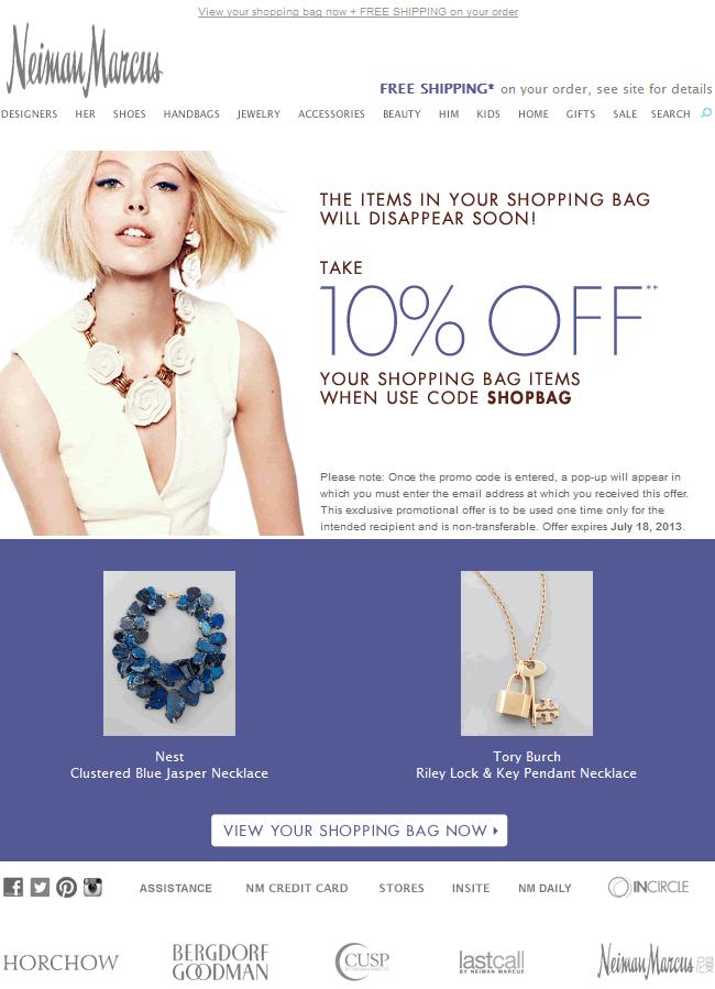 Email Inspiration 50 Cart Abandonment Emails To Inspire Your Next