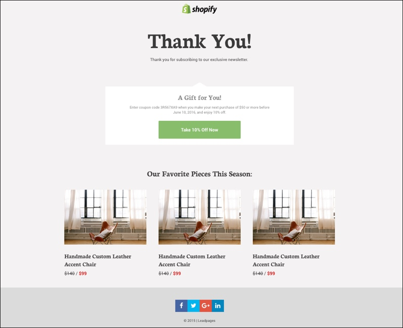 Thank You Page Design Template